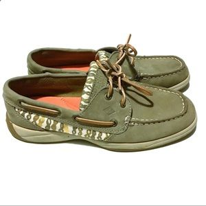 Sperry Top Sider Beige/Gold Women's Size 6.5